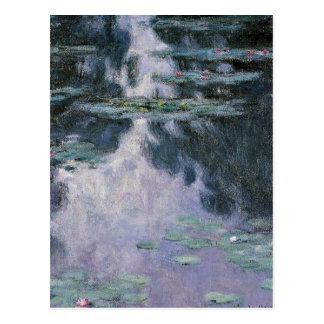 Monet - l'eau Lilies-nympheas-1907 Carte Postale