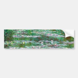 Monet les beaux-arts japonais de passerelle autocollant pour voiture