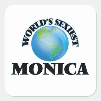 Monica la plus sexy du monde stickers carrés