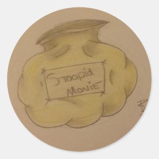 Monie de Stoopid Sticker Rond