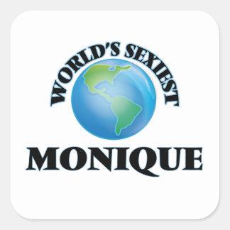 Monique la plus sexy du monde stickers carrés