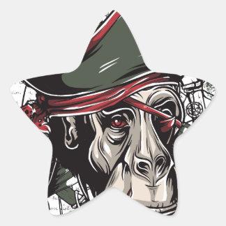 monkey la conception mignonne de pirate sticker étoile