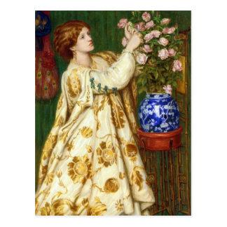 Monna Rosa par Dante Gabriel Rossetti Carte Postale