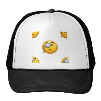 monocle d'emoji casquettes de camionneur