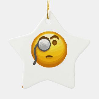 monocle d'emoji ornement étoile en céramique