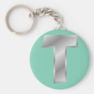 """Monogramme 2,25"""" de la lettre T porte - clé de Porte-clé Rond"""