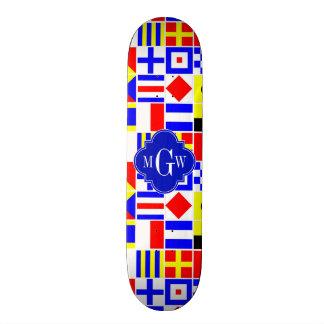 Monogramme 3I royal coloré de drapeaux de signal Skateboard 19,7 Cm