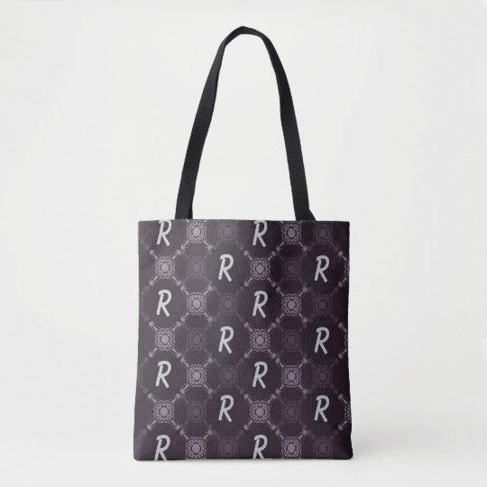 Monogramme abstrait noir de motif sac