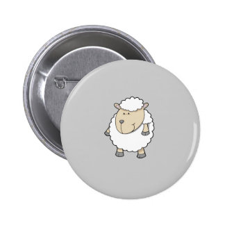 Monogramme adorable drôle mignon de moutons badge