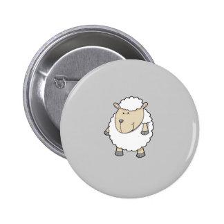 Monogramme adorable drôle mignon de moutons badge rond 5 cm
