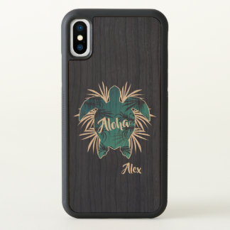 Monogramme. Aloha. Tropical. Tortue