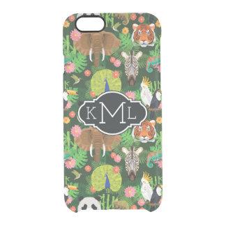 Monogramme animal tropical du mélange | coque iPhone 6/6S
