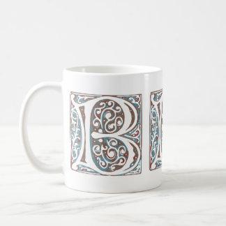 Monogramme antique médiéval élégant de la lettre B Mug
