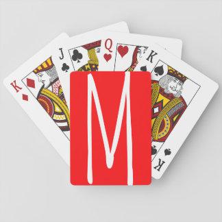 Monogramme audacieux moderne cartes à jouer