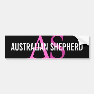 Monogramme australien de berger autocollant de voiture