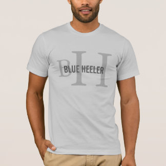 Monogramme australien de chien de bétail t-shirt