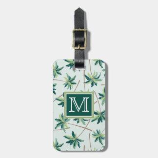 Monogramme australien tropical de la paume | de étiquette à bagage