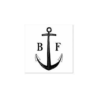 Monogramme avec l'ancre de bateau