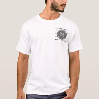 Monogramme aztèque blanc de flèches de charbon de t-shirt