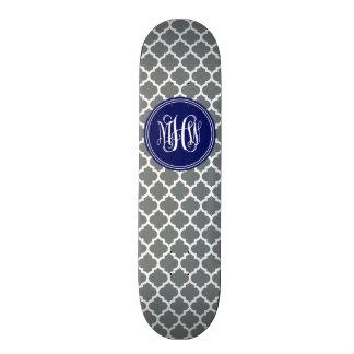 Monogramme blanc de vigne d'Init de la marine 3 du Skateboard 20,6 Cm