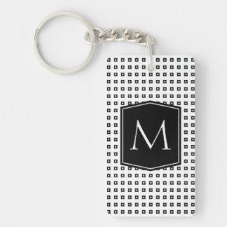 Monogramme carré de motif personnalisable porte-clé  rectangulaire en acrylique une face