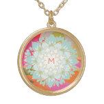 Monogramme coloré mignon de fleur de Lotus Bijouterie Fantaisie