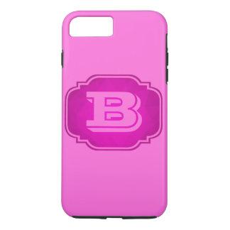Monogramme - conception rose personnalisable coque iPhone 7 plus
