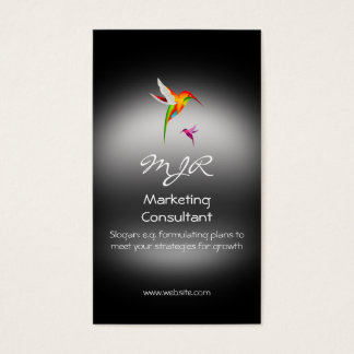 Monogramme, consultant du marketing, métal-regard cartes de visite
