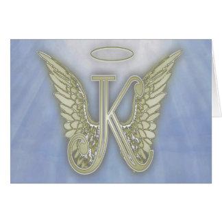 Monogramme d'ange de la lettre K Cartes De Vœux