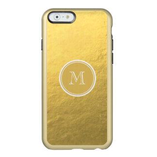 Monogramme d'arrière - plan de feuille d'or de coque iPhone 6 incipio feather® shine
