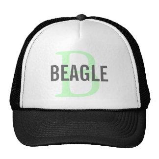 Monogramme de beagle casquettes de camionneur