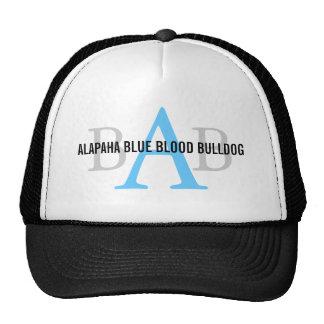 Monogramme de bouledogue de sang bleu d'Alapaha Casquette