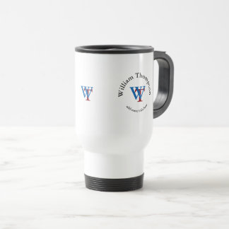 monogramme de cercle - logo personnalisé de promo mug de voyage