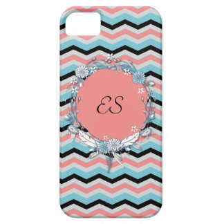 Monogramme de Chevron Coque Barely There iPhone 5