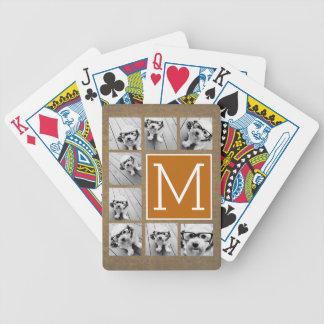 Monogramme de collage de photo - Papier Jeux De Cartes