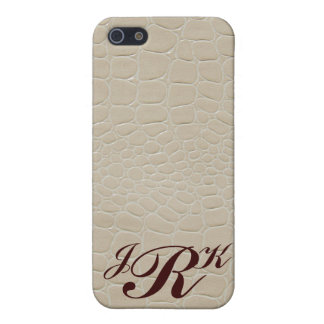 Monogramme de conception de peau de serpent iPhone 5 case
