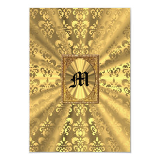 Monogramme de damassé d'or