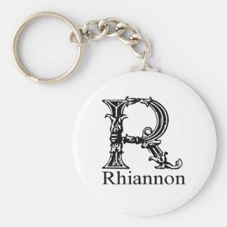 Monogramme de fantaisie : Rhiannon Porte-clé Rond