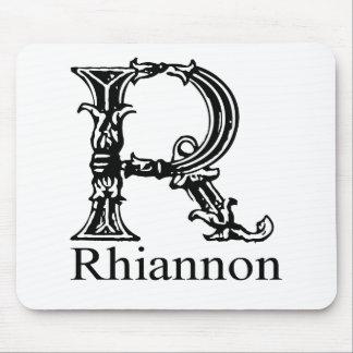 Monogramme de fantaisie : Rhiannon Tapis De Souris