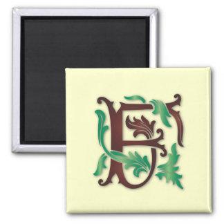 monogramme de Fleur-De-lis F Magnet Carré