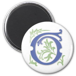 monogramme de Fleur-De-lis G Magnets Pour Réfrigérateur