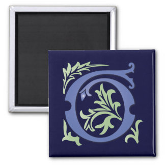 monogramme de Fleur-De-lis G Magnet Carré
