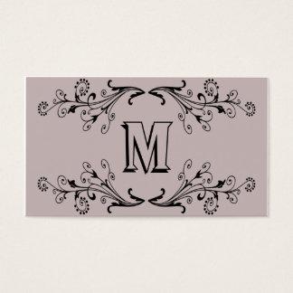monogramme de flourish cartes de visite