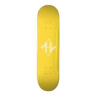 Monogramme de forme de diamant d'initiales du skateboards personnalisés