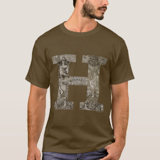 Monogramme de Harry Potter | Hogwarts T-shirt