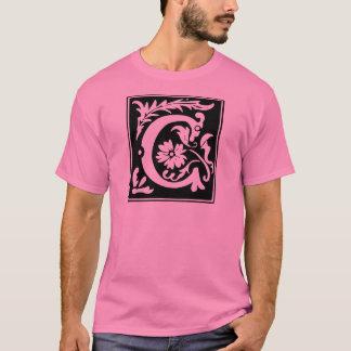 Monogramme de la lettre C T-shirt