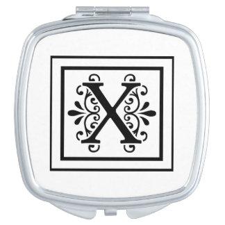 Monogramme de la lettre X Miroirs De Voyage