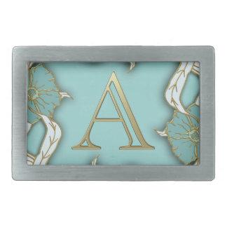 monogramme de l'alphabet A Boucle De Ceinture Rectangulaire