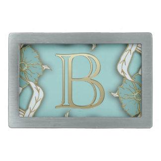 monogramme de l'alphabet b boucle de ceinture rectangulaire