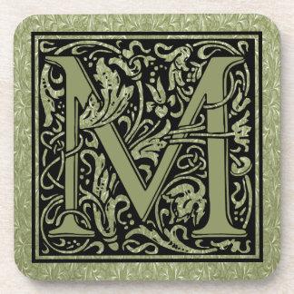 Monogramme de lettre de la lettre M premier Sous-bock